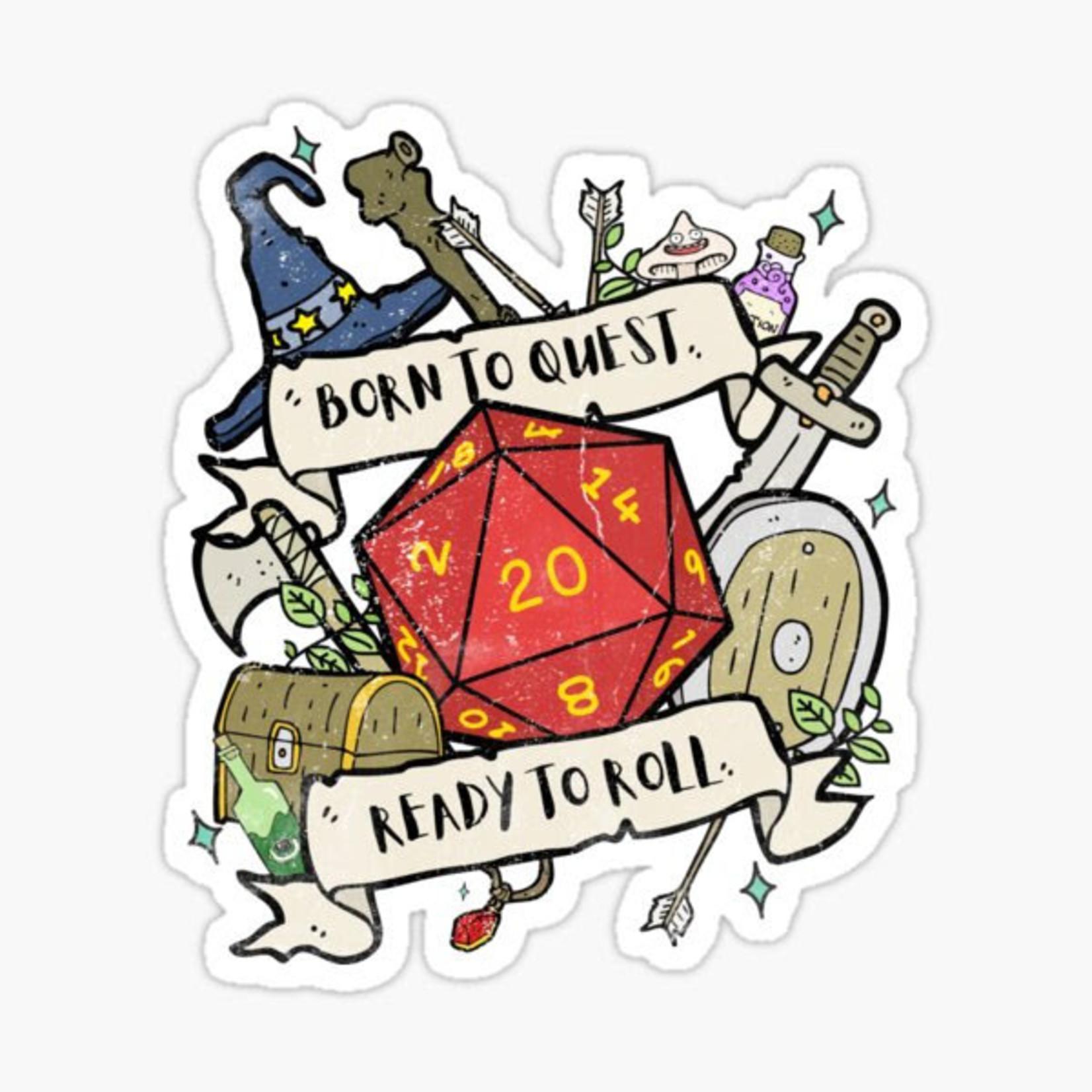 Born To Quest RPG Sticker