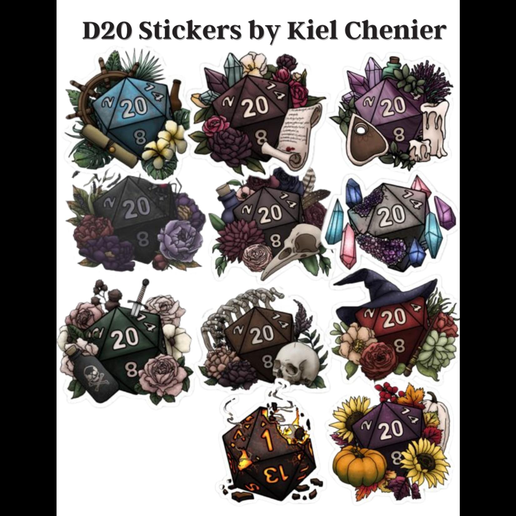 D20 Stickers by Kiel Chenier