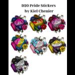 D20 Pride Stickers by Kiel Chenier