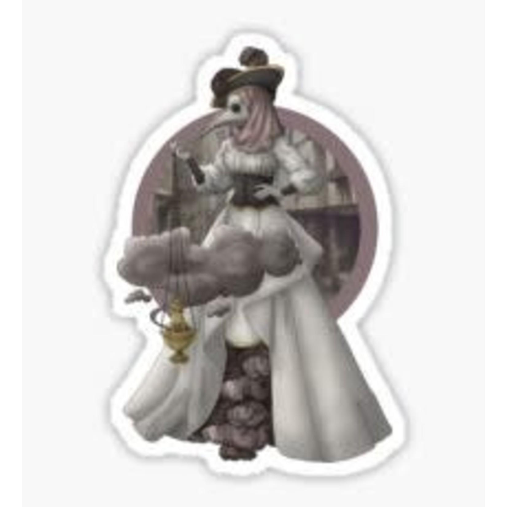 The Plague Doctor - Blackfeather Boutique Fashion Art Sticker
