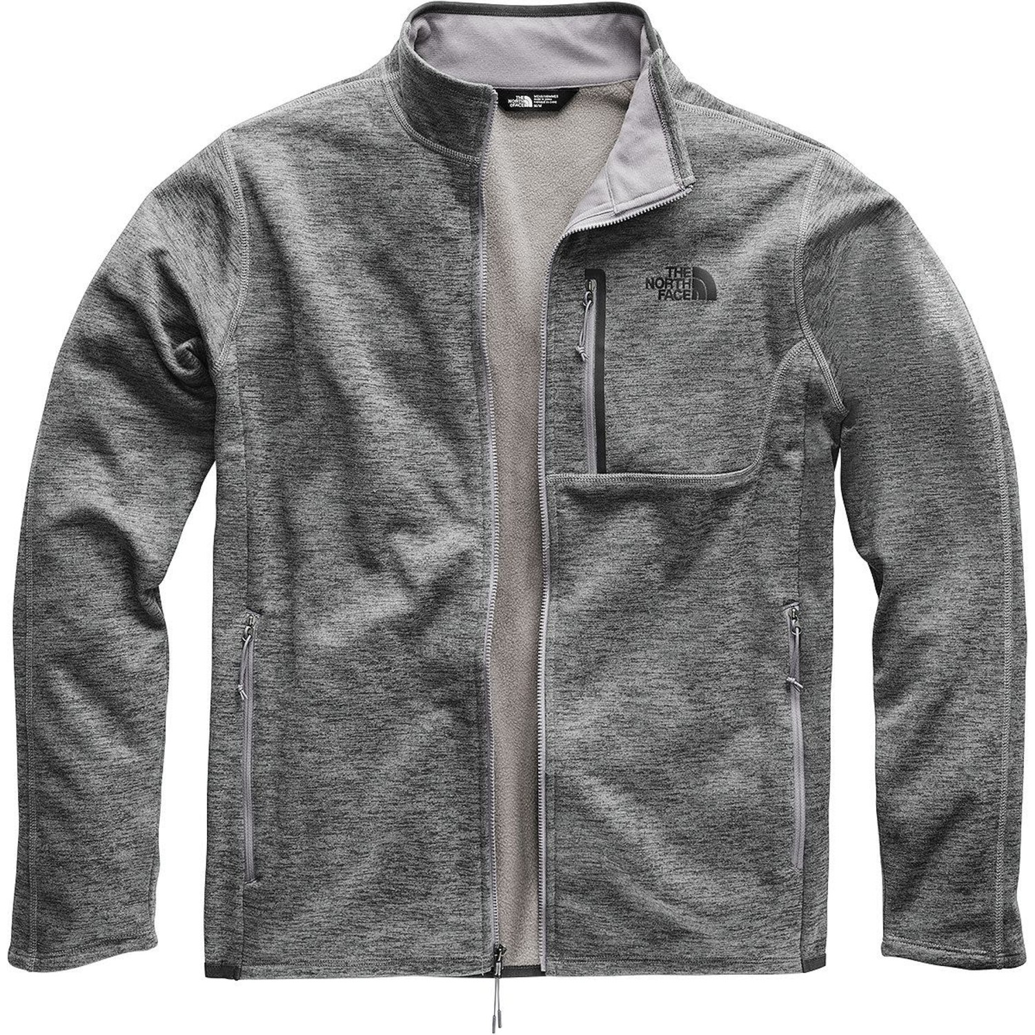 The North Face TNF Canyonlands Full Zip Mens Jacket Fleece Black New Collection!