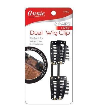 ANNIE 2 Pairs Dual Wig Clip Large
