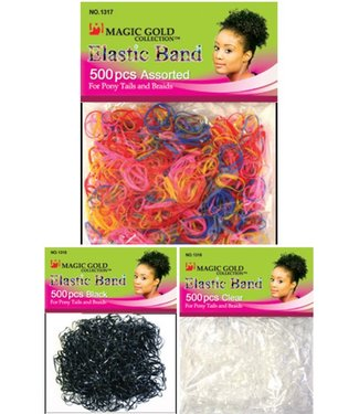 MAGIC GOLD COLLECTION Colourful Elastic Bands