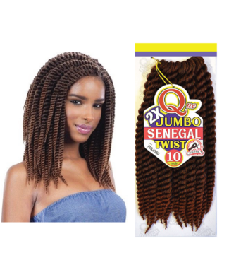 SHAKE-N-GO Jumbo Senegal Twists 10 ""