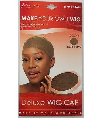 KIM & C Deluxe Wig Cap #Light Brown