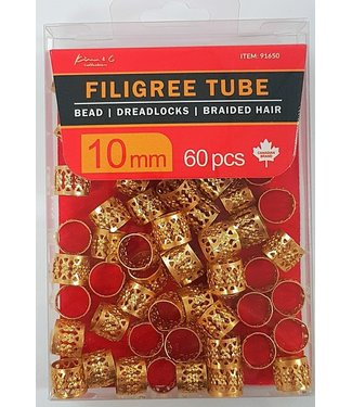 KIM & C Filigree Tube Gold (10mm)