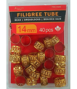 KIM & C Filigree Tube Gold (14mm)