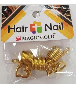 MAGIC GOLD COLLECTION Hair + Nails Gold Hearts