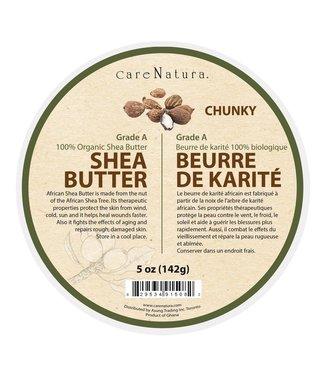 CARE NATURA Grade A 100% Organic Pure White Shea Butter Chunky