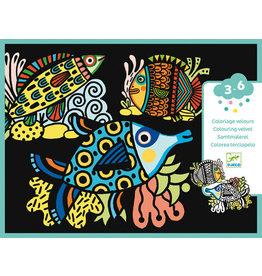 Djeco Pretty Fish Velvet Colouring