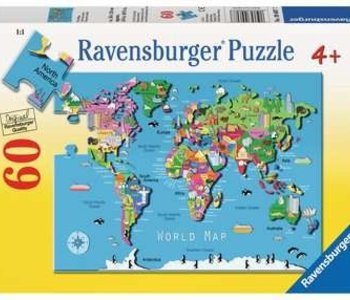 World Map 60pc Puzzle