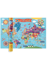 Round World Junior Kids World Wall Map 24x36""