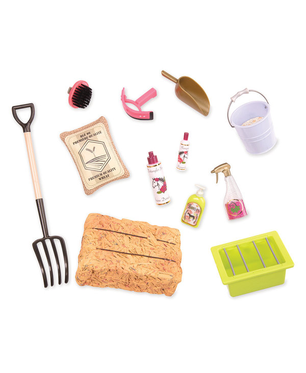 Our Generation Hay & Neigh Horse Care Set