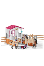 Schleich® Horse Stall with Arab Horses and Groom