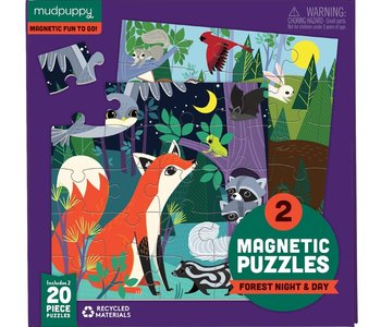 Forest Night & Day Magnetic 20pc Puzzle