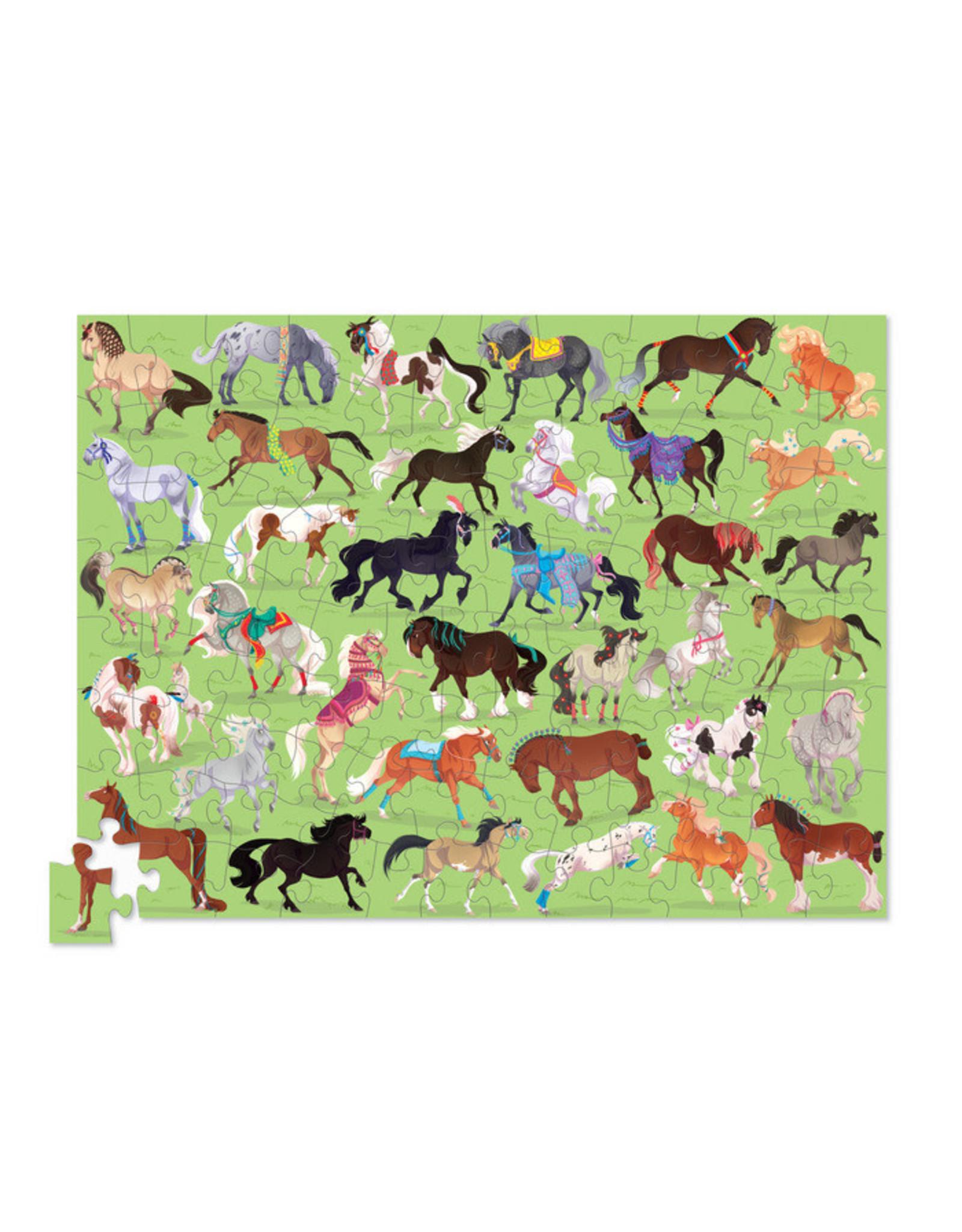 Crocodile Creek 36 Horses 100pc Puzzle
