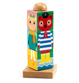 Djeco Twistanimo Wooden Puzzle Blocks