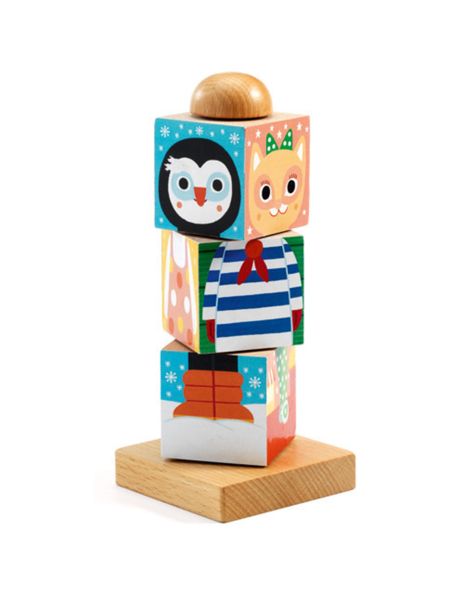 Djeco Twistanimo Wooden Puzzle Blocks