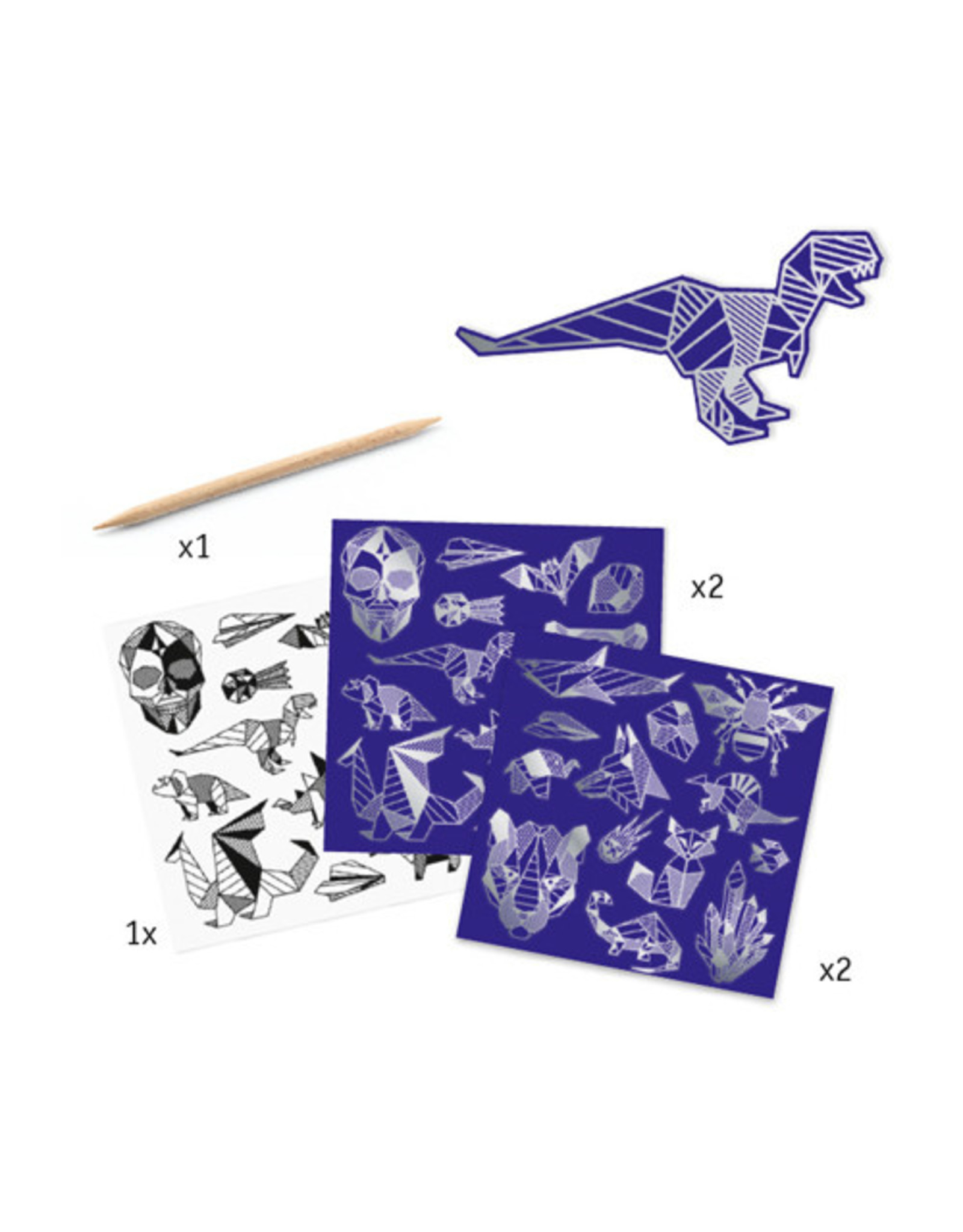 Djeco Iron Metallic Scratch Cards