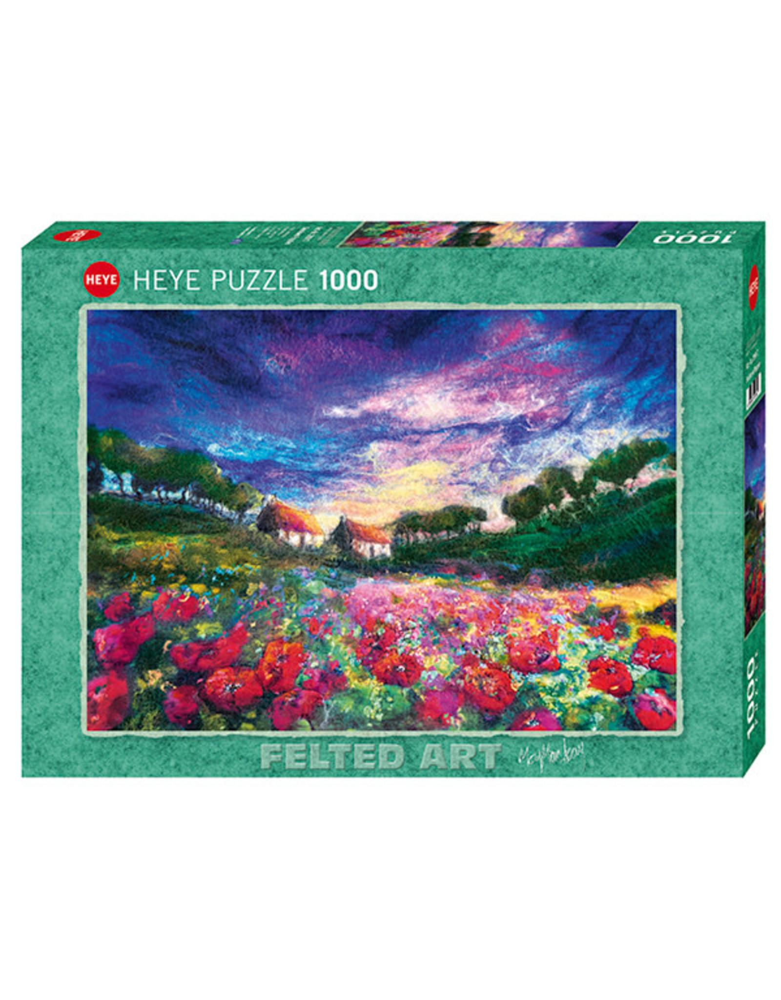 Heye Sundown Poppies 1000pc Puzzle