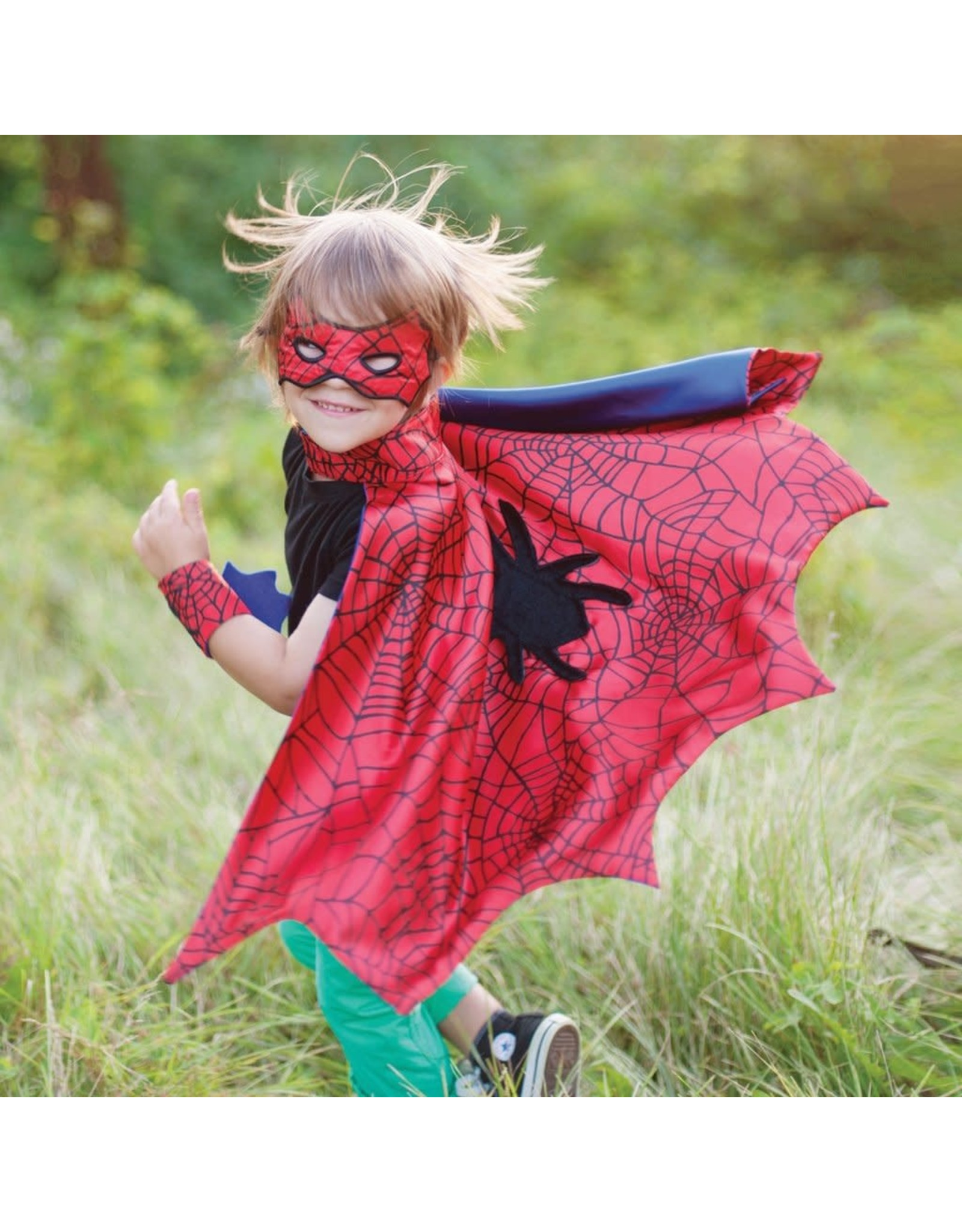 Great Pretenders Spider Cape Set w Mask & Wristbands size 3-4