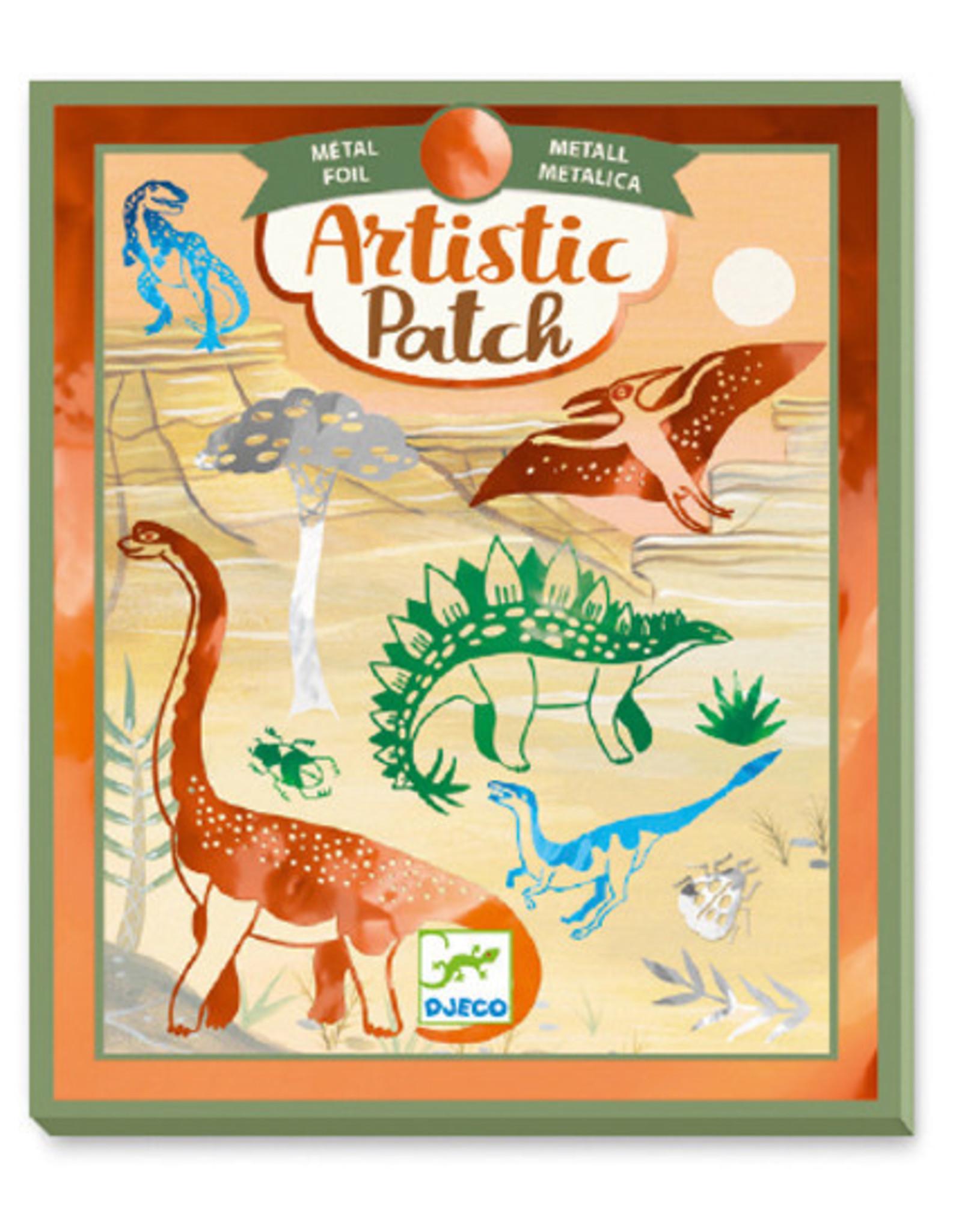 Djeco Artistic Patch Metal Foil Dinosaurs
