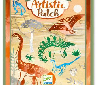 Artistic Patch Metal Foil Dinosaurs