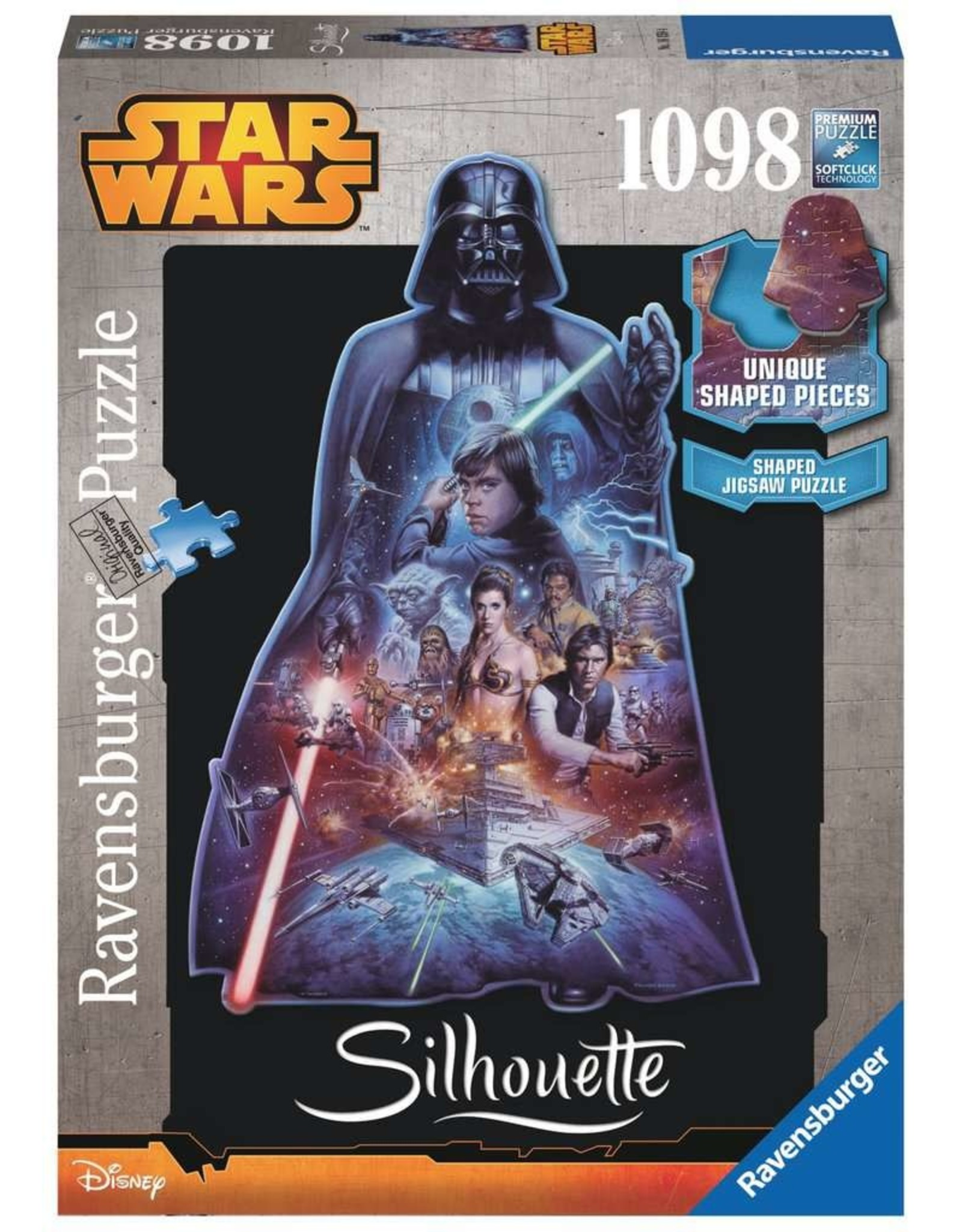 Ravensburger Darth Vader Shaped 1098pc Puzzle