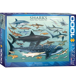 Eurographics Sharks 1000pc Puzzle