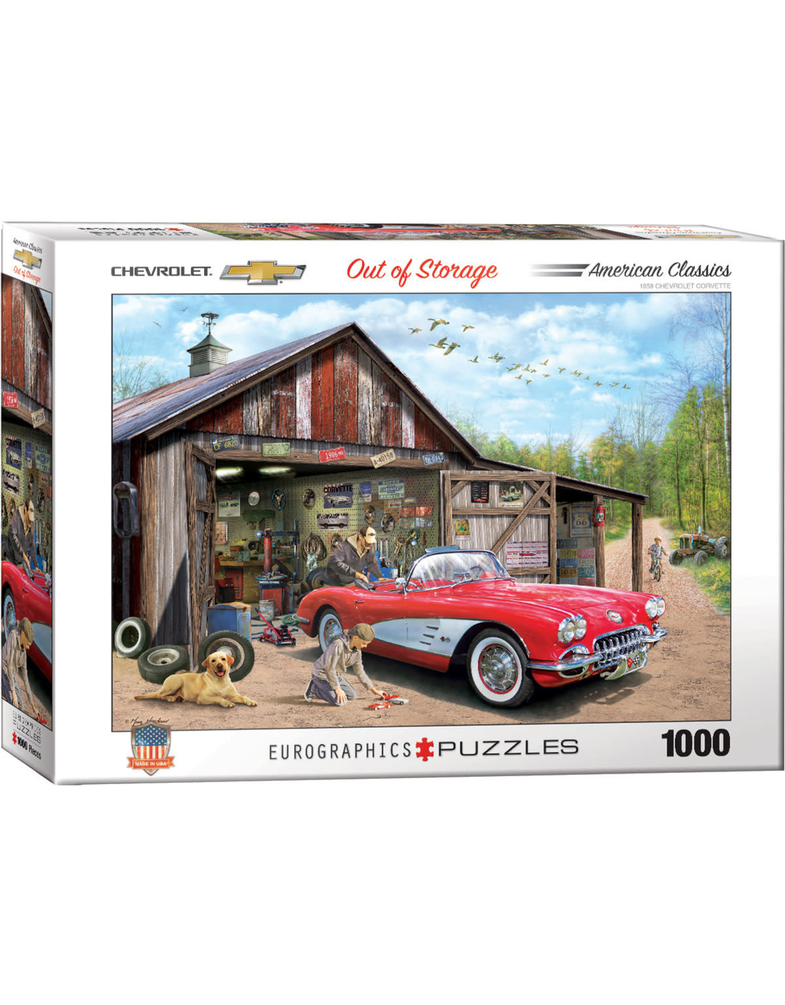 Eurographics Out of Storage 1959 Corvette 1000pc puzzle