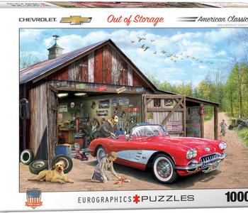 Out of Storage 1959 Corvette 1000pc puzzle