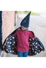 Great Pretenders Reversible Wizard Cape with Hat 4-6yrs
