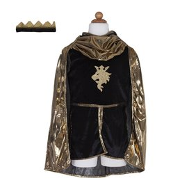 Great Pretenders Golden Knight w Tunic, Cape & Crown Ages 5-6