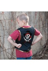 Great Pretenders Pirate Vest & Eye Patch 4-7yrs