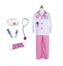 Great Pretenders Pink Doctor Costume w Garment bag