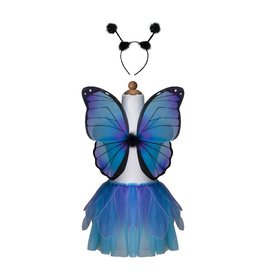 Great Pretenders Midnight Butterfly Tutu w Wings & Headband 4-7yrs