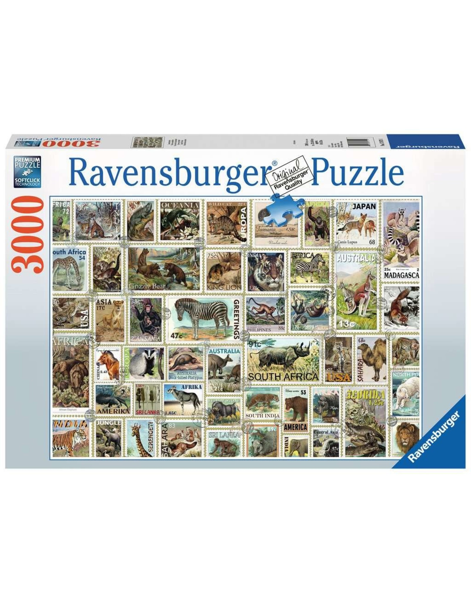Ravensburger Animal Stamps 3000pc Puzzle