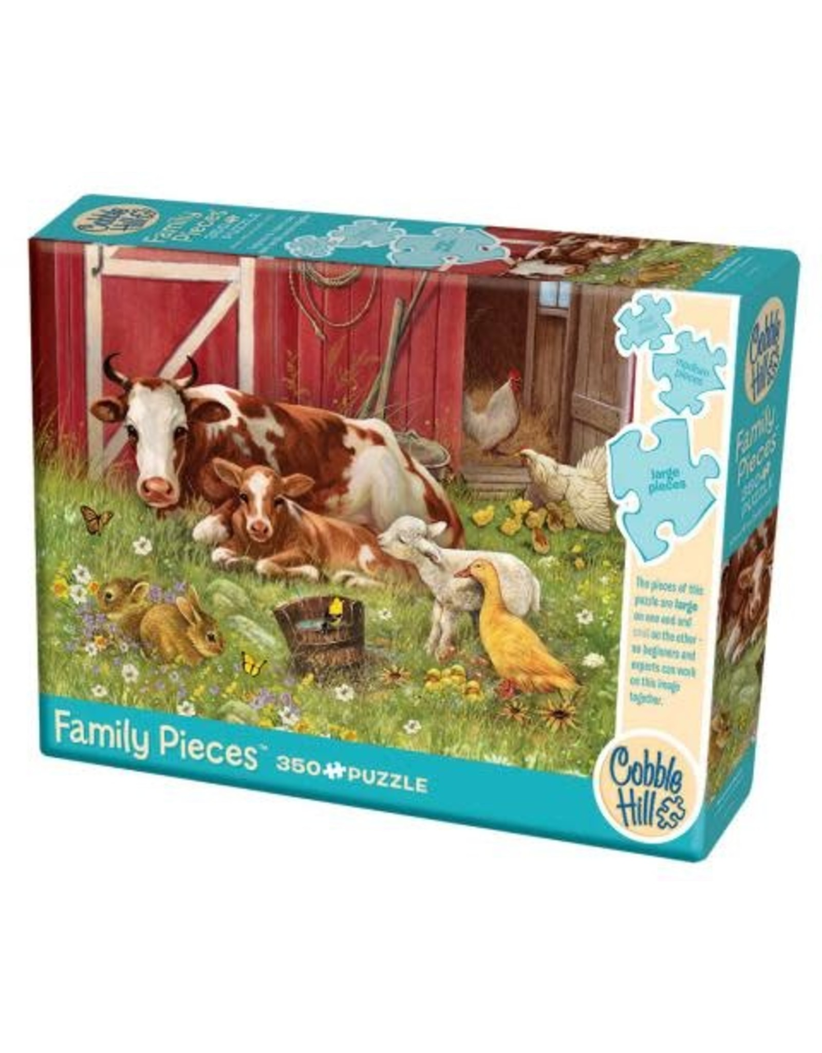 Cobble Hill Barnyard Babies 350pc Family Puzzle