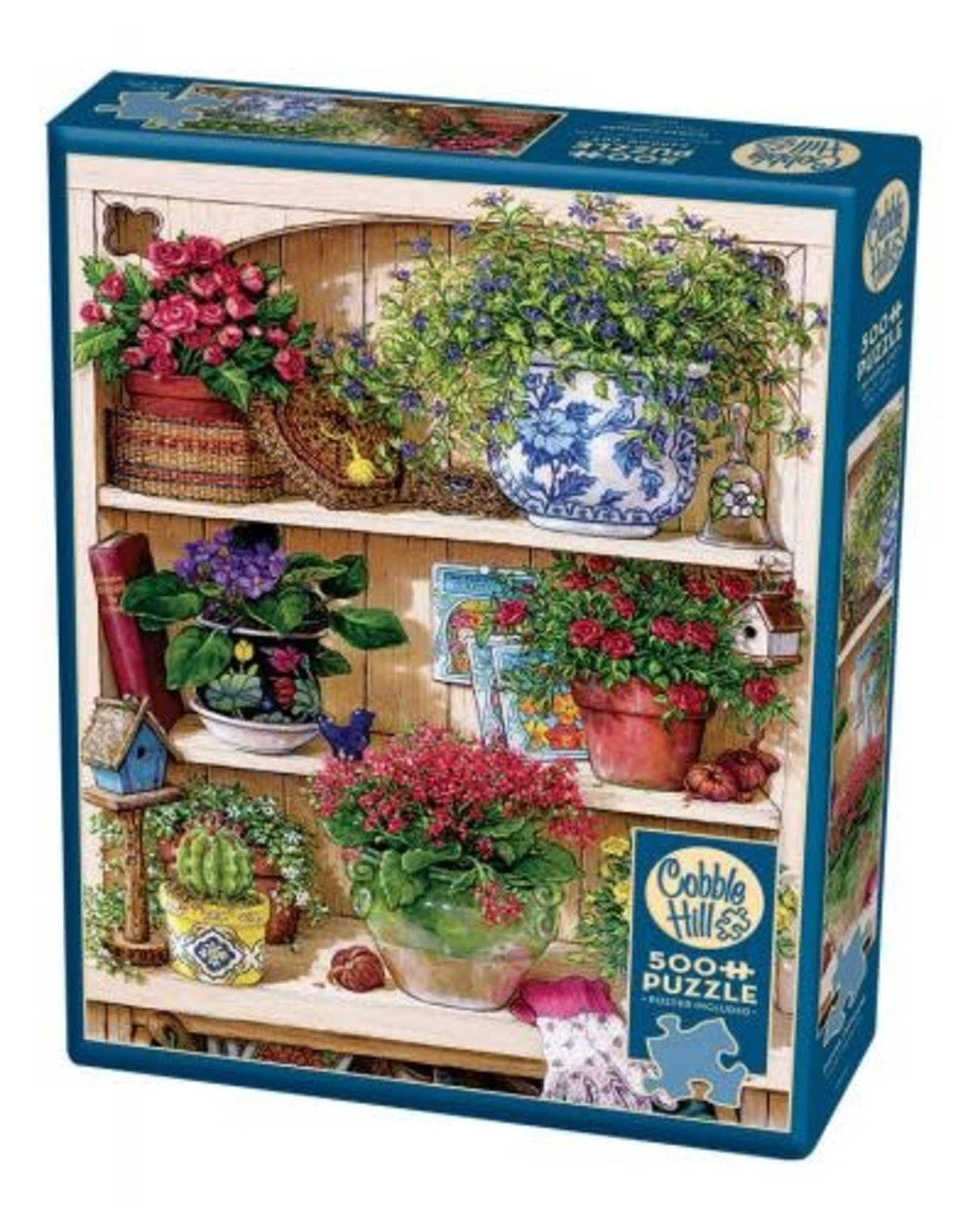 Cobble Hill Flower Cupboard 500pc Puzzle
