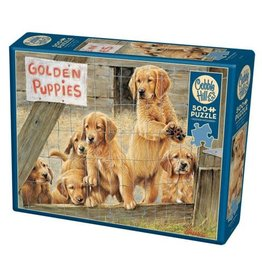Cobble Hill Golden Puppies 500pc Puzzle