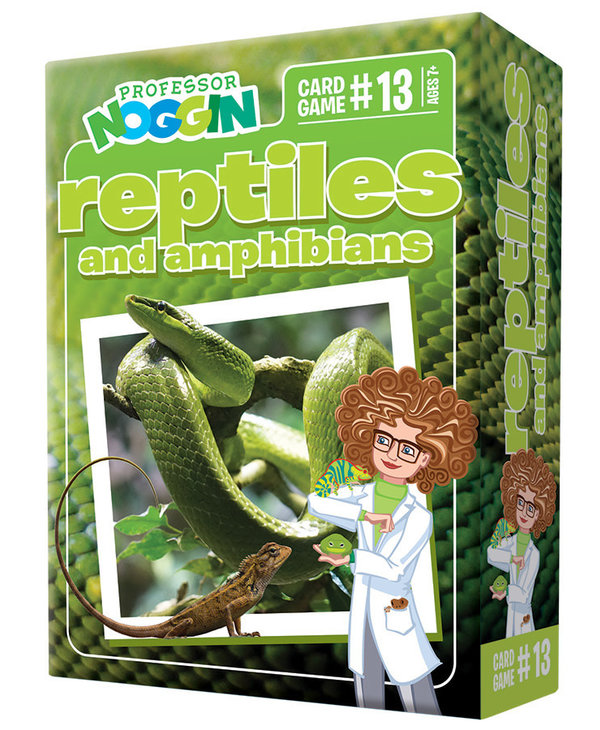 Professor Noggins: Reptiles and Amphibians Trivia Card Game