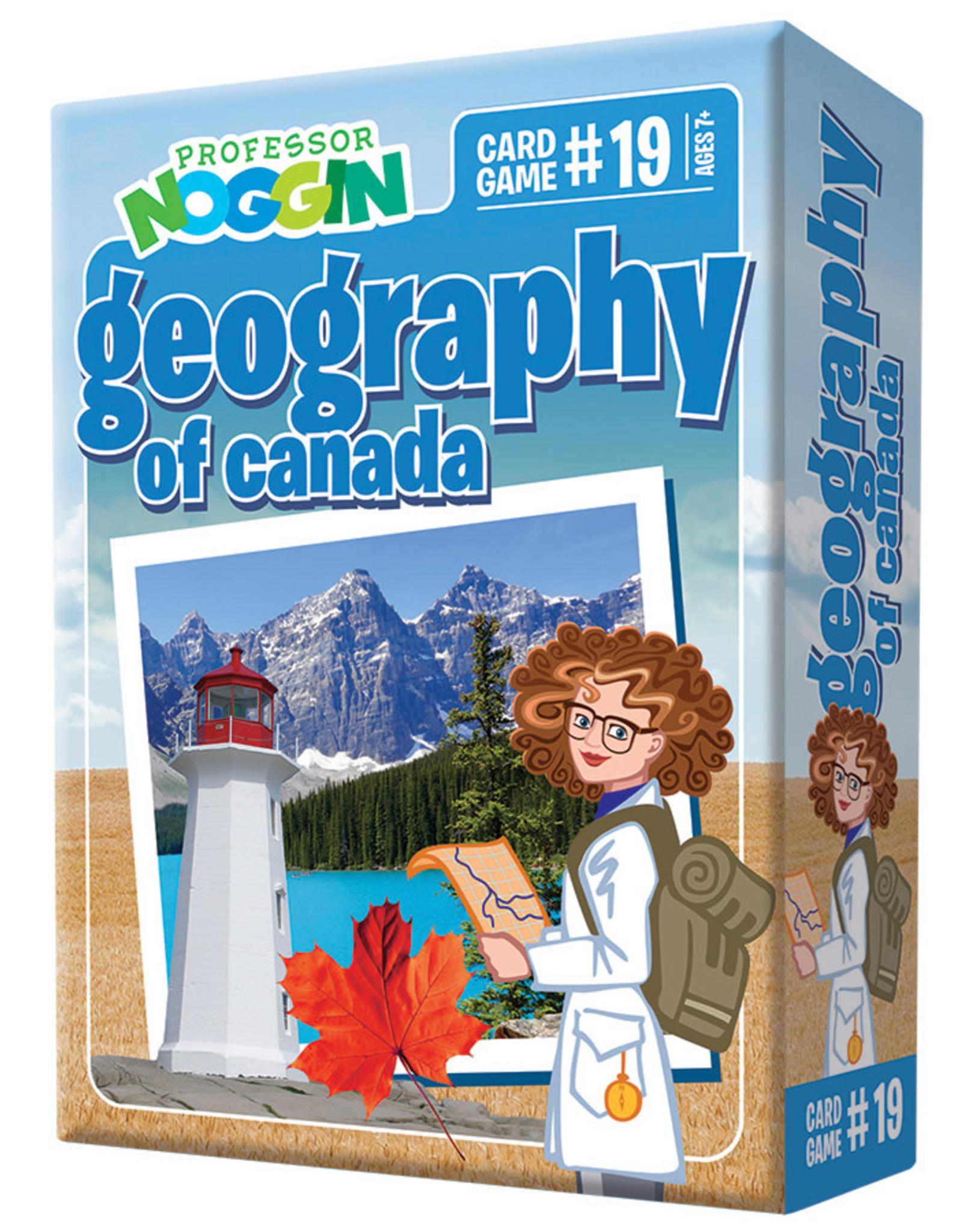 Outset Media Professor Noggins Geography of Canada Trivia Card Game