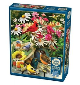 Cobble Hill Garden Birds 500pc Puzzle