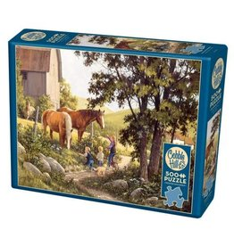 Cobble Hill Summer Horses 500pc Puzzle