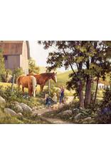 Cobble Hill Summer Horses 500pc Puzzle