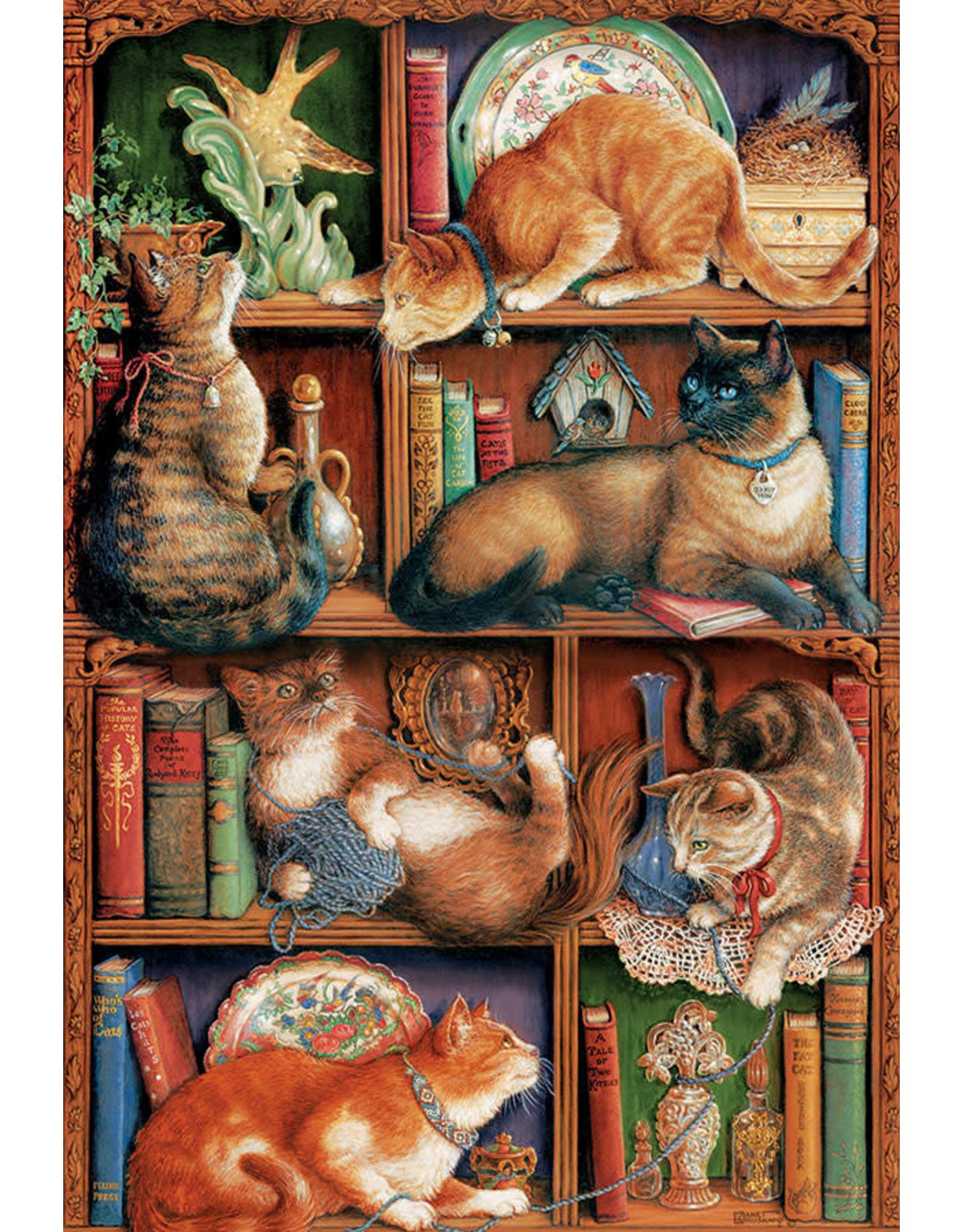 Cobble Hill Feline Bookcase 2000pc Puzzle
