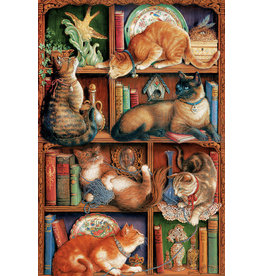 Cobble Hill Feline Bookcase 2000pc Puzzle