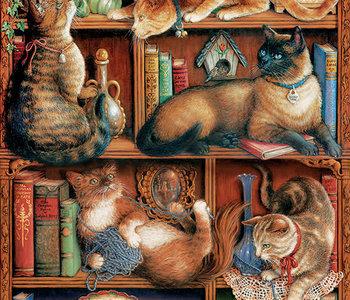 Feline Bookcase 2000pc Puzzle