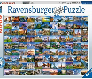 99 Beautiful Places of Europe 3000pc Puzzle