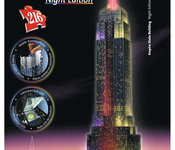 Empire State Buildling 3D Puzzle Night Edition